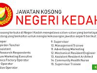 Jawatan Kosong di Seluruh Negeri Kedah - Gaji RM1,000 - RM3,500