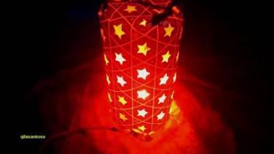 Cara Membuat Lampu Hias dari Toples Plastik Bekas