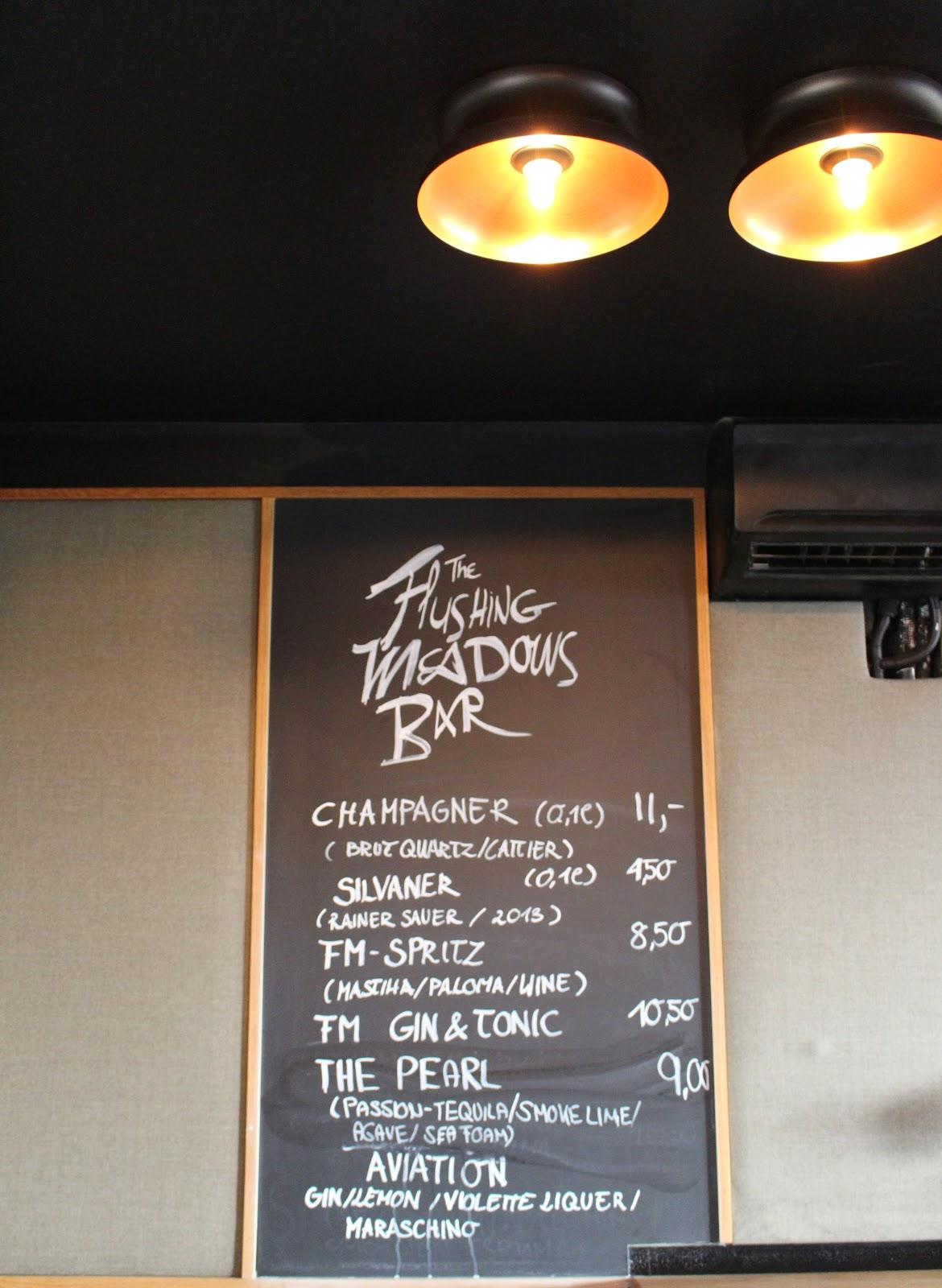 The Flushing Meadows Hotel & Bar menu