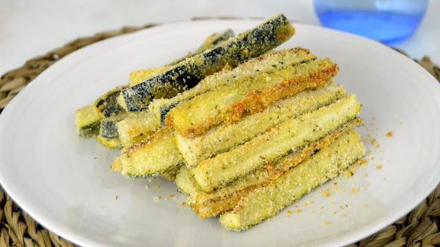 Palitos de calabacín al horno con parmesano