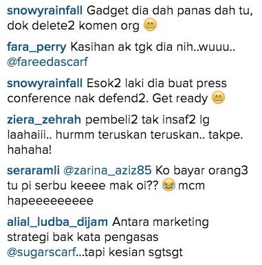 Admin Instagram Fareeda Scarft Dikecam