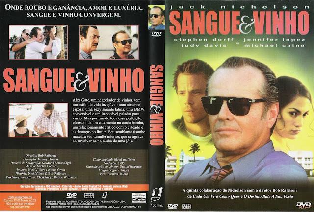 Capa DVD Sangue E Vinho