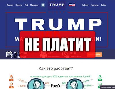 Скриншоты выплат с хайпа trump-tower.biz