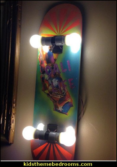 skateboard wall light  Graffiti wall murals - skateboarder bedroom decorating ideas - Skateboard bedroom decorations - skateboarding theme bedroom decorating ideas - graffiti wallpaper murals - graffiti wall designs - graffiti bedrooms furniture - graffiti wall decals - Urban grunge  theme bedroom ideas -