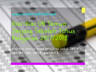 Kisi-Kisi UN Semua Jenjang Sekolah Tahun 2018