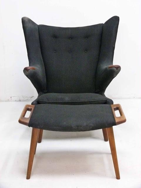 Hans J. Wegner AP-19 Papa Bear Chair & Ottoman by AP Stolen, Denmark 2
