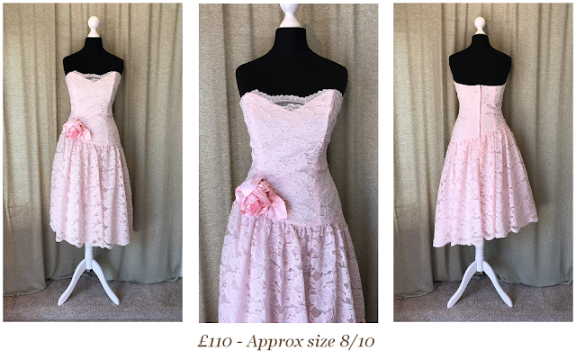 baby pink lace vintage prom dress size 8 form Vintage lane bridal in Bolton