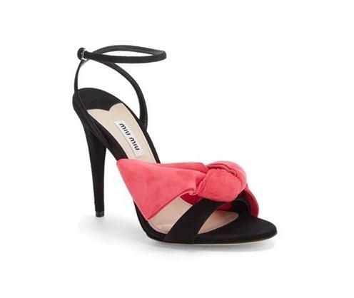 b313aa2f516 Miu Miu Ankle Strap Bow Sandals