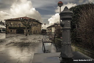 Plaza Sabino Arana en la localidad de Zamudio