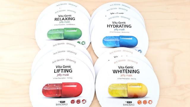 Banobagi Vita Genic Jelly Masks (Relaxing, Hydrating, Lifting, and Whitening)