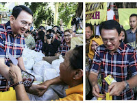 Ahok Ngaku Tak Pernah Money Politic, Eh Foto Ahok Lagi Bagi-Bagi Sembako Beredar di Internet