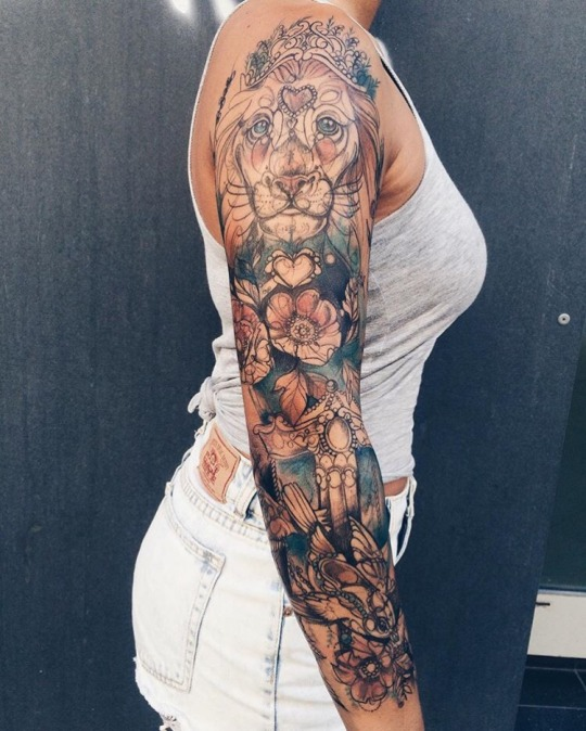 Hot lion tattoos for women