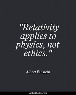 Relativitz applies to physics, not ethics