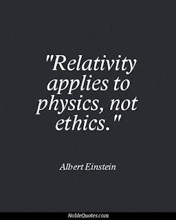 Relativitz applies to physics, not ethics