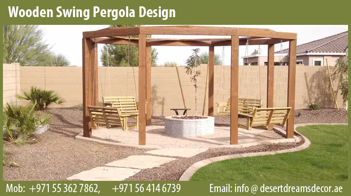 Wooden Swings Pergola Abu Dhabi - Wooden Pergola Swings Wooden Pergola Shades With Swings