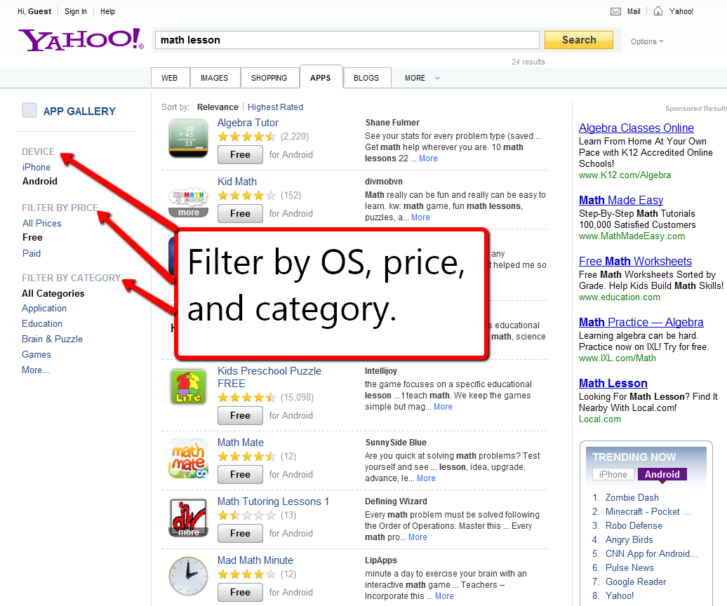 Free Technology for Teachers: Try Yahoo to Find Your Next