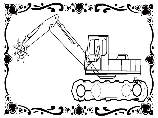 Excavator Construction Free Coloring Pages