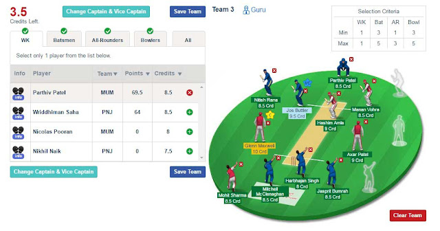 create team in dream11