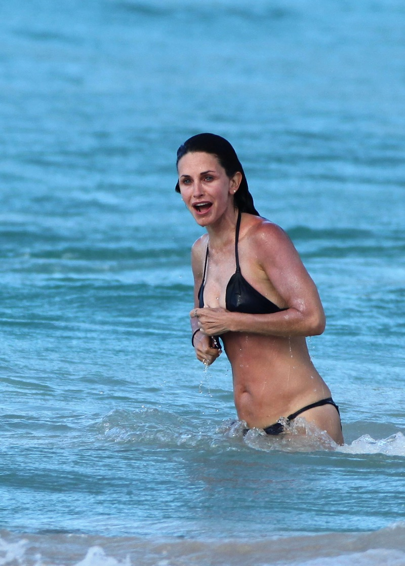Courtney cox nipples agree with