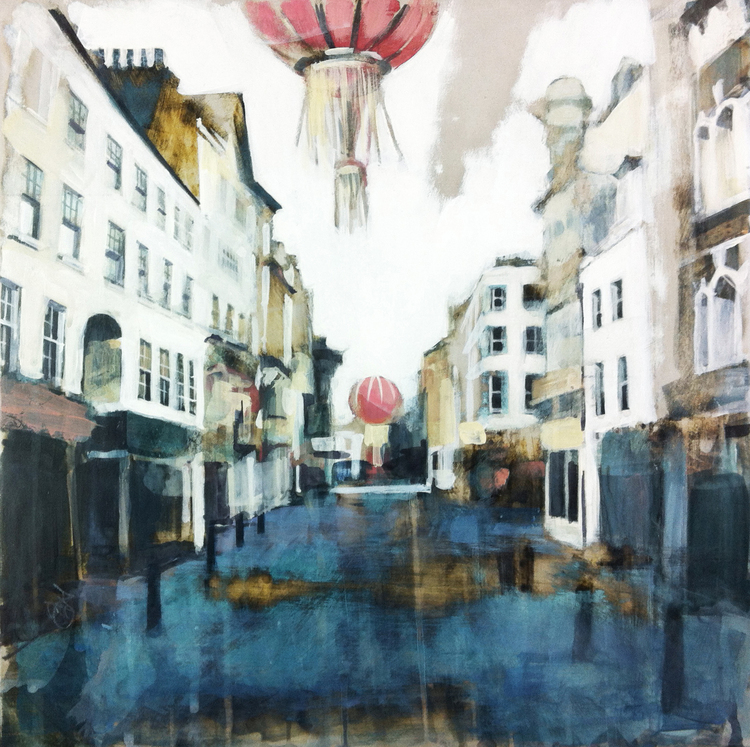 04-Chinatown-Wardour-Street-London-Camilla-Dowse-Soothing-Architectural-Acrylic-Paintings-www-designstack-co