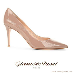 Countess Sophie wore Gianvito Rossi Bari 85 Patent-Leather Court Shoes