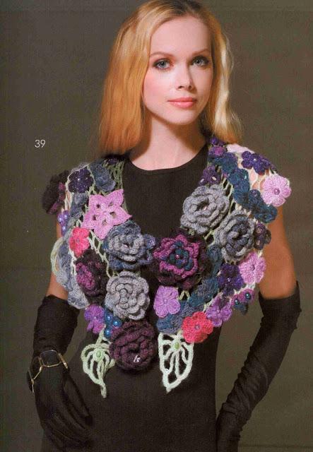 Patrón #1416: Cuello a Crochet