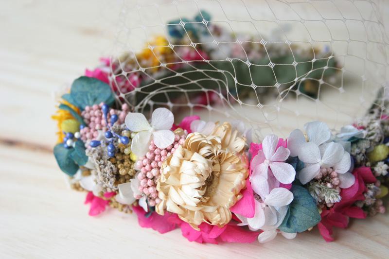 DEF Deco - Decorar en familia: Diy diadema de flores preservadas y secas10