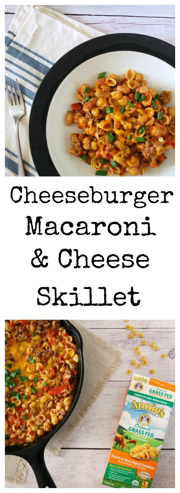 Cheeseburger Mac and Cheese Skillet