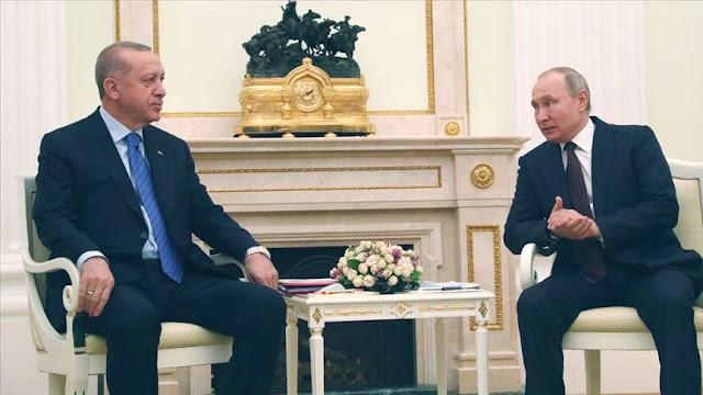 Erdogan dan Putin Umumkan Gencatan Senjata di Idlib, Suriah