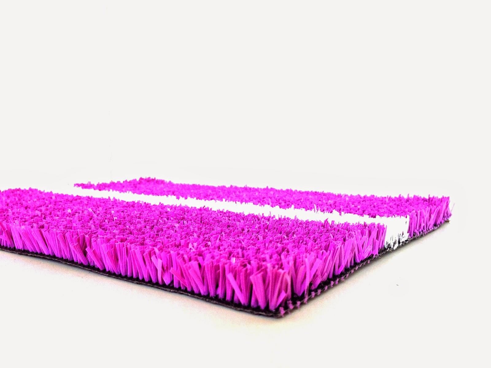 césped sintético para padel color rosa