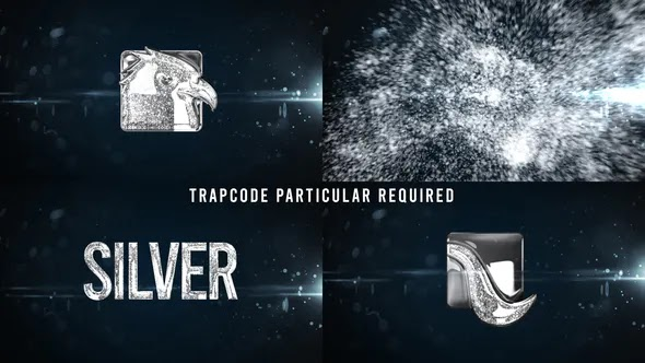 Videohive Glowing Particals Logo Reveal 34 Silver Particals 01 25793511