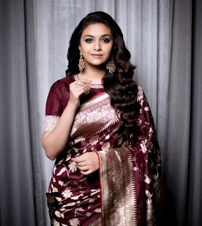 Keerthy Suresh in Saree at JFWMagazine Awards