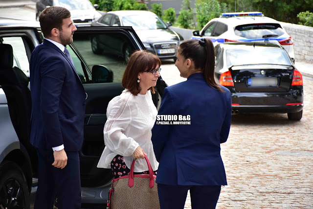 Στο Ναύπλιο η Πρόεδρος της Ελληνικής Δημοκρατίας Κατερίνα Σακελλαροπούλου