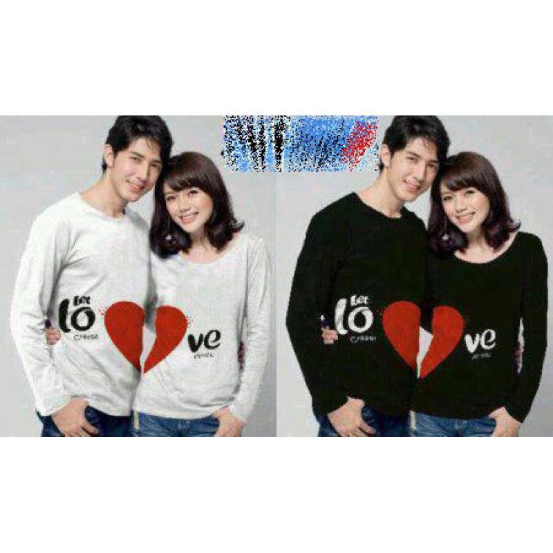 Jual Couple Lengan Panjang LP Let Love - 22196