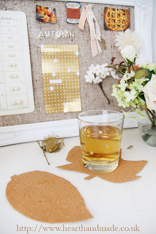 Upcycled Cork board to coasters DIY