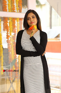 Telugu Actress Karunya Chowdary Stills in Black Dress at Soda Goli Soda Movie Opening  0301.JPG