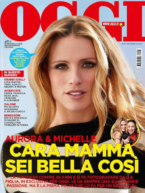 Actress, Singer, Model, @ Michelle Hunziker - Oggi, January 2016