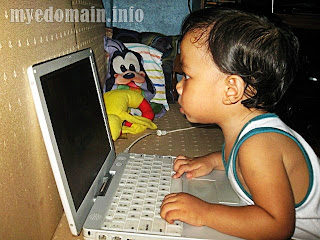 Kids of today-techie toddler