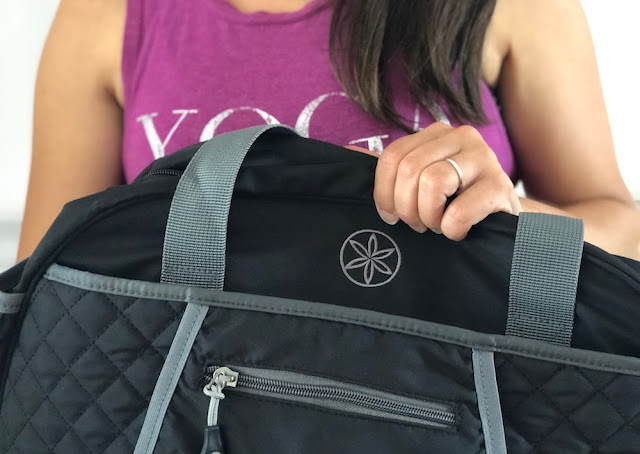 Gaiam Duffle Bag - Ana Graphic Tank - Yoga Like A Boss - Gaiam Canada Ambassador