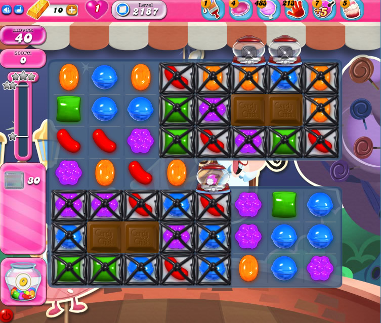 Candy Crush Saga level 2187