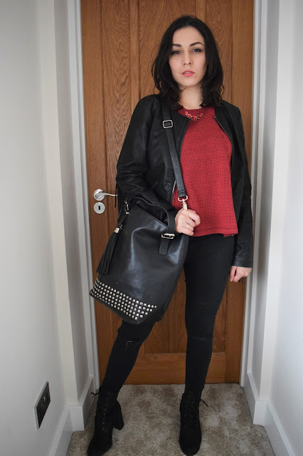 Full Length Dogtooth Outfit / Bag & Jacket INCL.