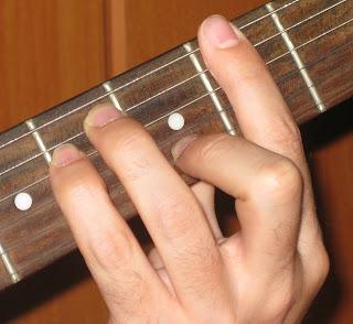 Acordes para guitarra. Acordes con Cejilla.