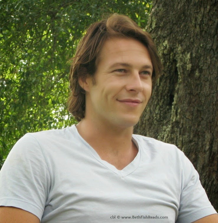 Luke Bracey on the set of The Best of Me movie, 2014