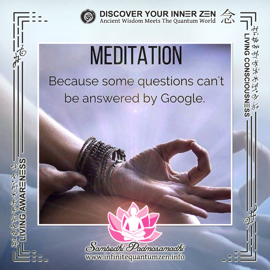Meditation - Because some questions can't be answered by Google - Infinite Quantum Zen, Success Life Quotes