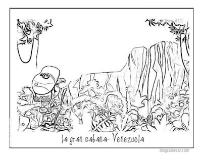 Colorear dibujo  La Gran Sabana de Venezuela