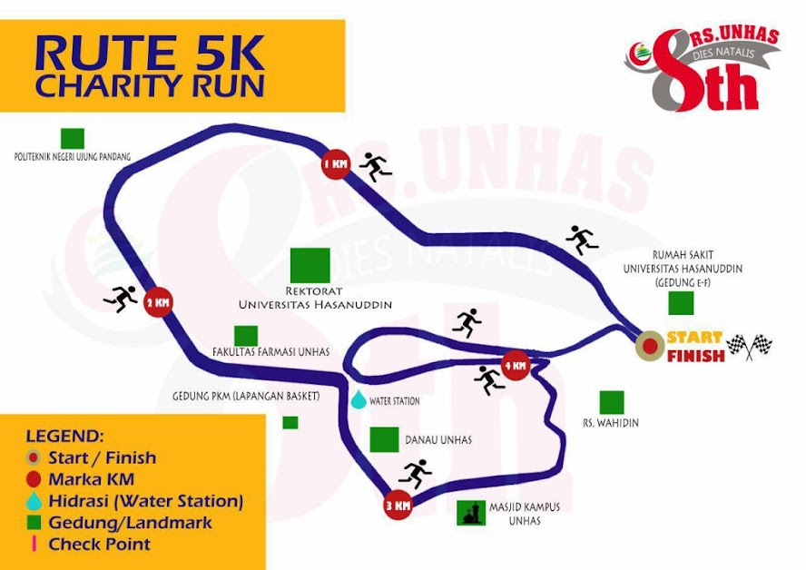 Unhas Charity Run Route 2018