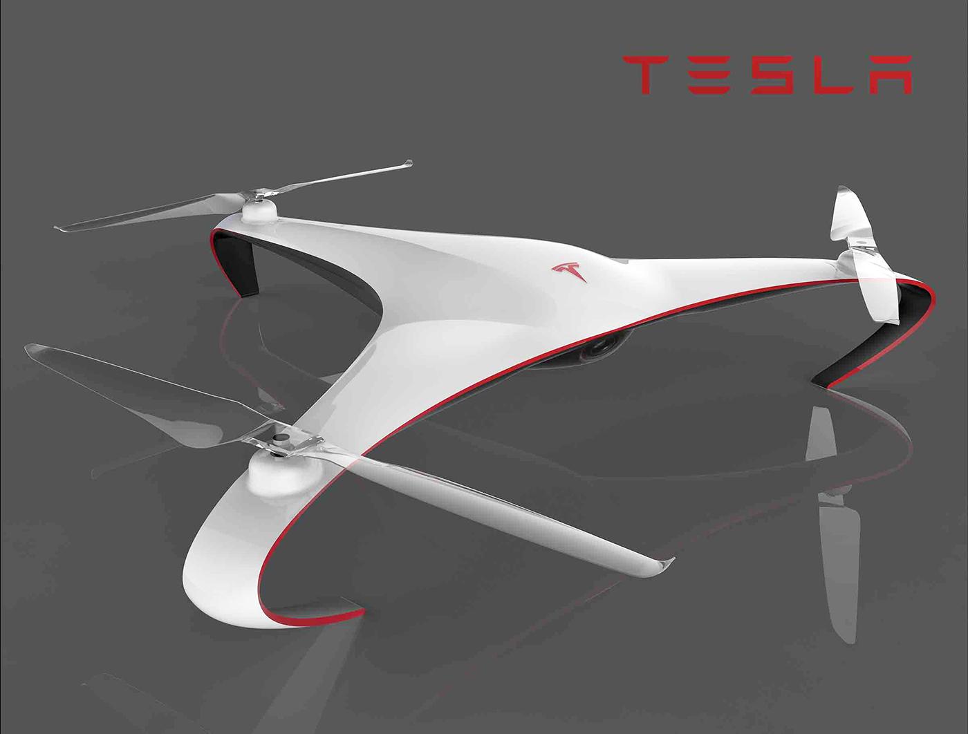 Tesla Drone Aurora By Alberto Esses Motivezine
