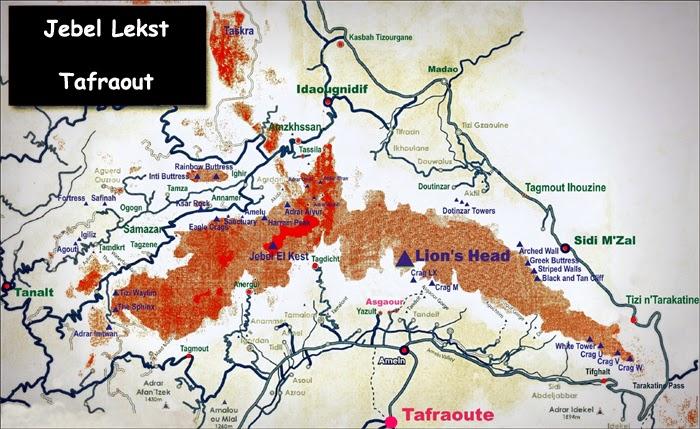 Carte du Jebel Lekst - Tafraout