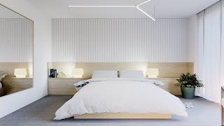 แบบห้องนอนสีขาว
