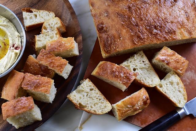 Talami Bread with Hummus
